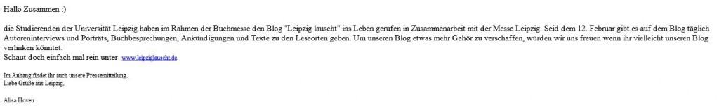 Mail Leipzig lauscht